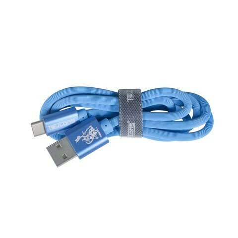 Teutons Zlin-FC124 (1.M) True Length USB Type-C Fast Charging Cable Blue