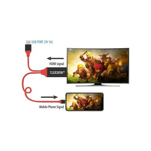 Teutons Phone-HDTV Cable 3M for iOS