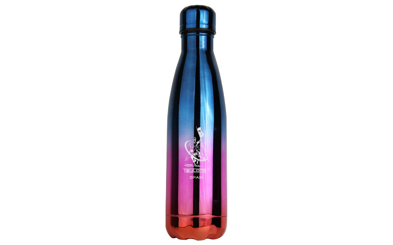 Double wall stainless steel keeps hot and cold water bottle.