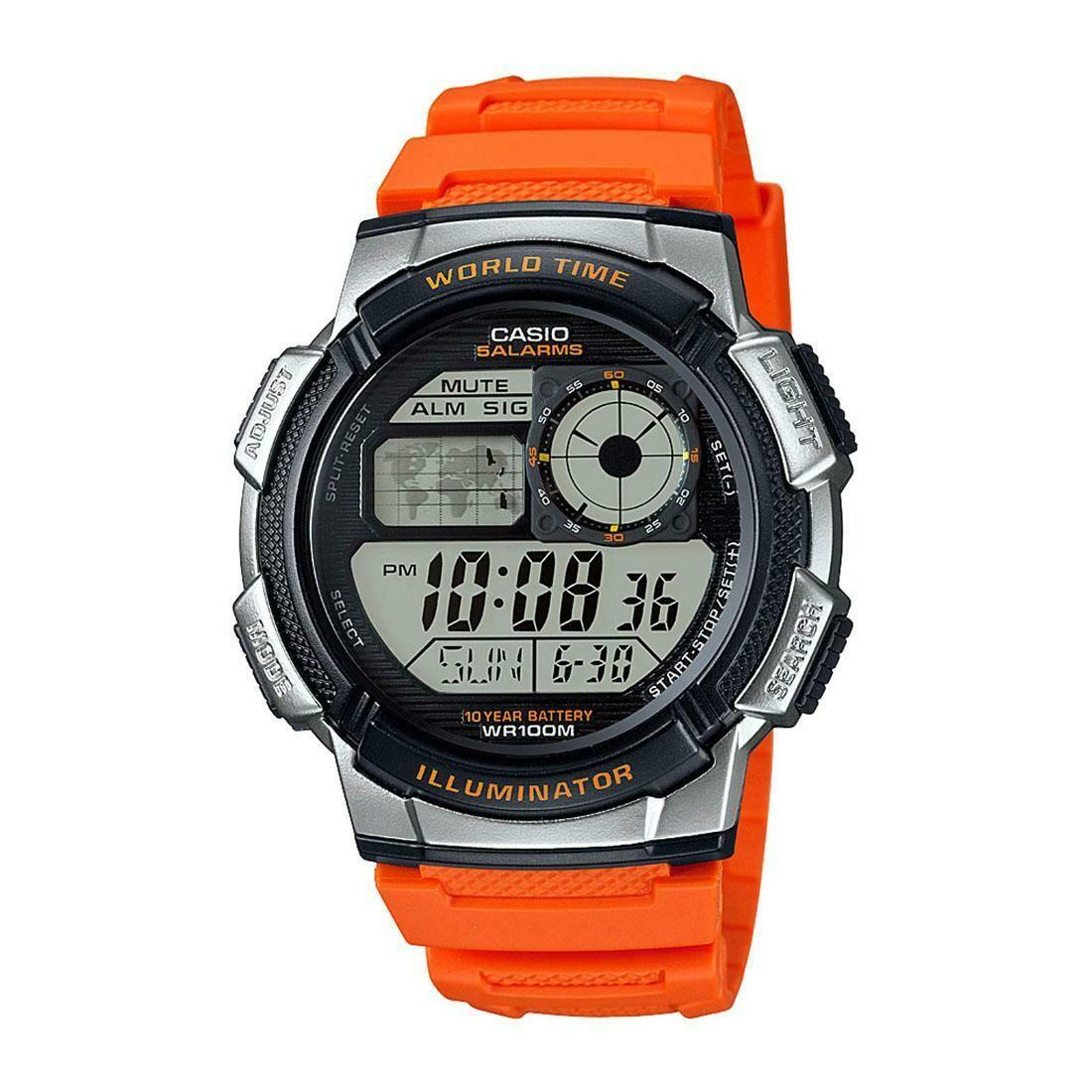Casio Youth AE-1000W-4BVDF Digital Wrist Watch For Men - Orange
