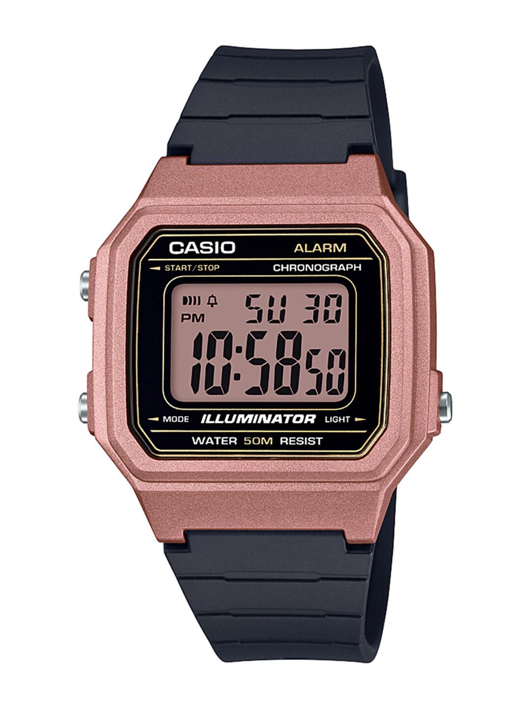 Casio Vintage W-217HM-5AVDF Black Resin Watch For Men
