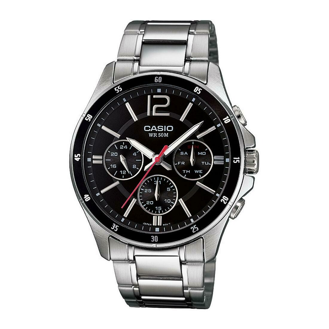 Casio Enticer MTP-1374D-1AVDF Analog Wrist Watch For Men - Silver