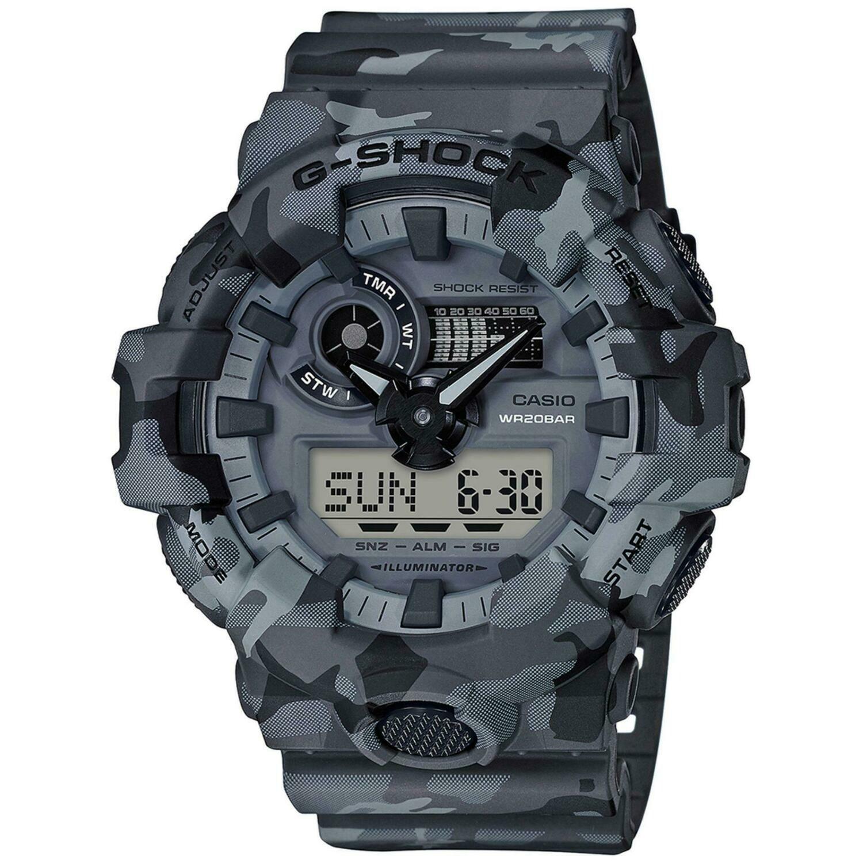 Casio G-Shock GA-700CM-8ADR Analog-Digital Wrist Watch For Men - Grey