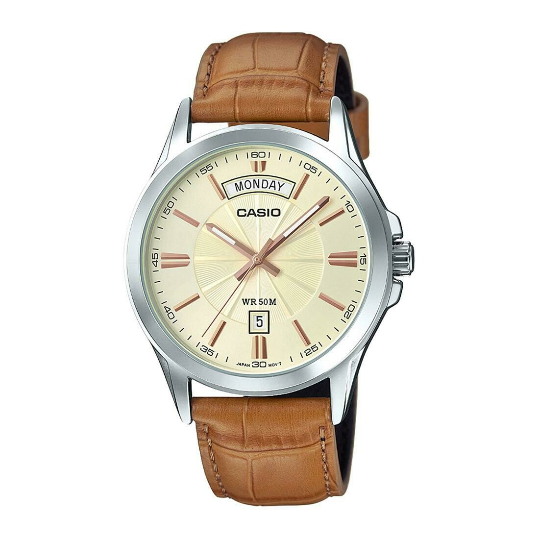 Casio Enticer MTP-1381L-9AVDF Analog Wrist Watch For Men - Brown