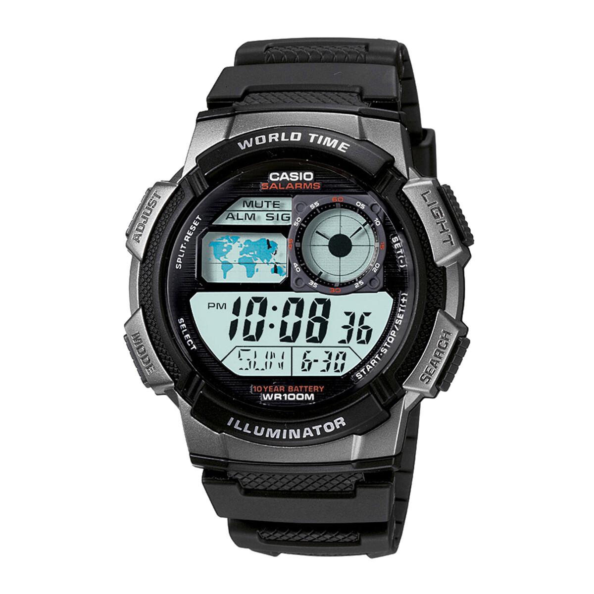 Casio AE-1000W-1BVDF Black Resin Watch For Men