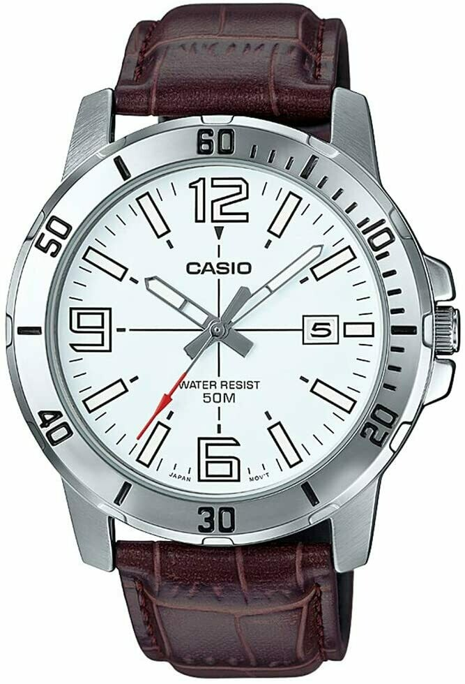 Casio MTP-VD01L-1EVUDF Analog Wrist Watch for Men - Black