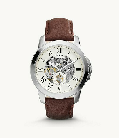 Grant Automatic Brown Leather Watch
