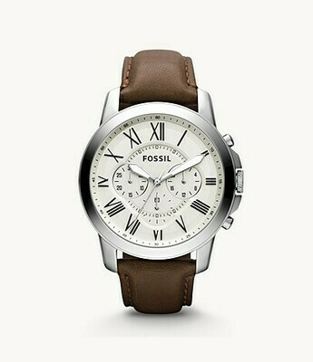Grant Chronograph Brown Leather Watch FS4735