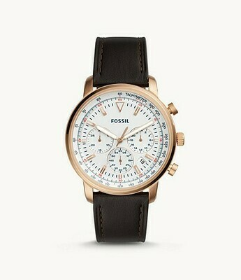 Goodwin Chronograph Brown Leather Watch FS5415