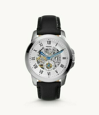 Grant Automatic Black Leather Watch ME3053