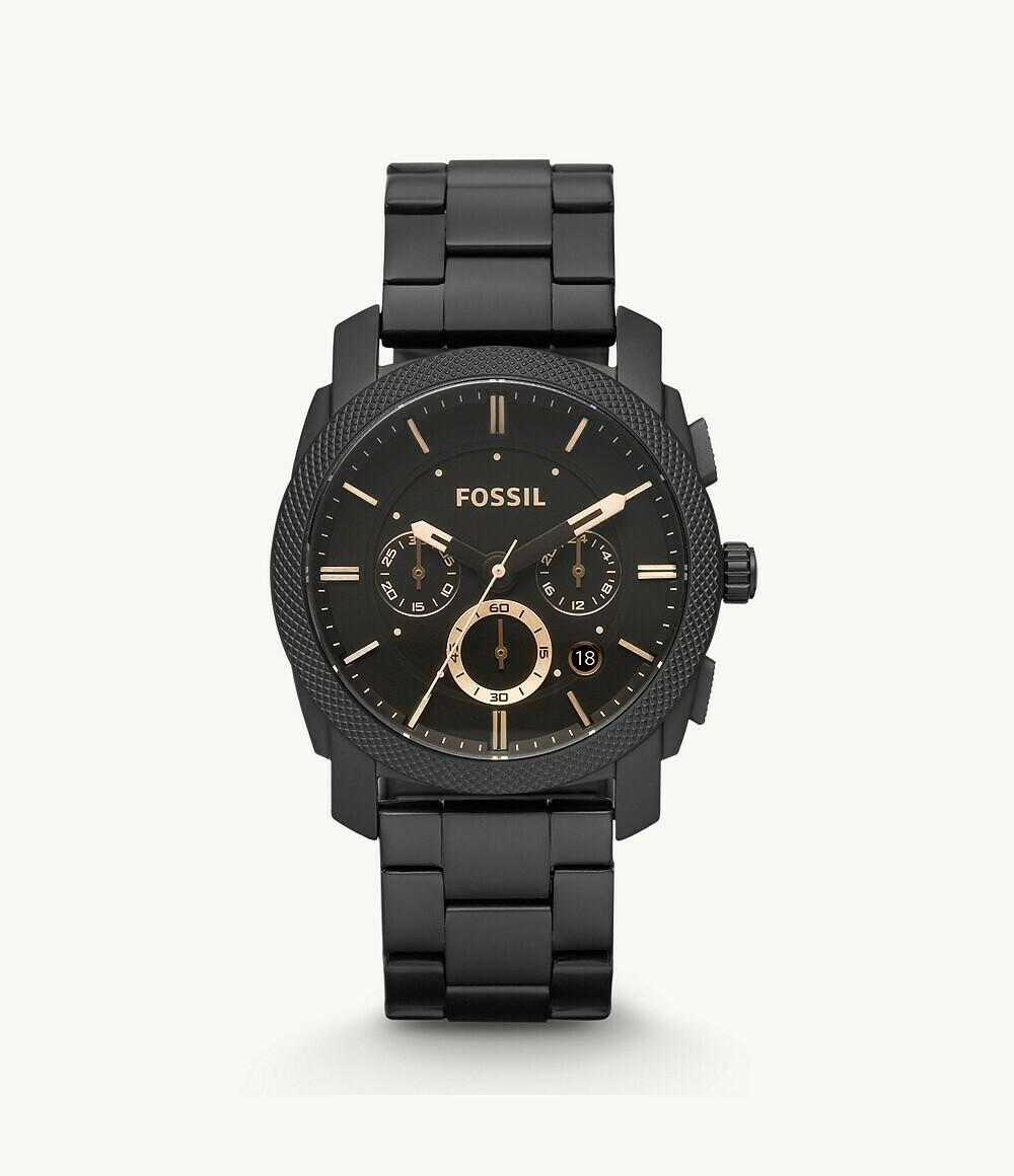 Machine Chronograph Quartz Black Dial Men's Watch FS4682IE