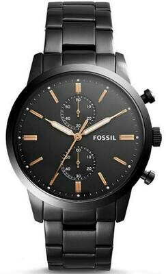 Townsman 44mm Chronograph Black Stainless Steel Watch