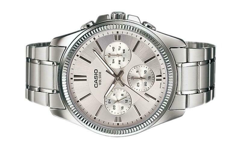 Casio Enticer MTP-1375D-7AVDF Analog Wrist Watch For Men - Silver