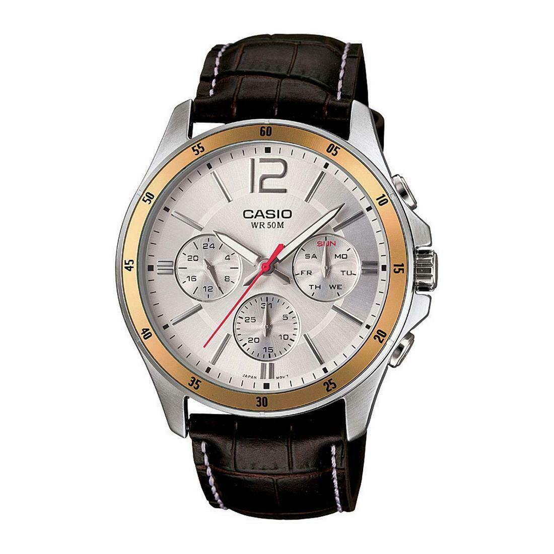 Casio Enticer MTP-1374L-7AVDF Analog Wrist Watch For Men - Brown