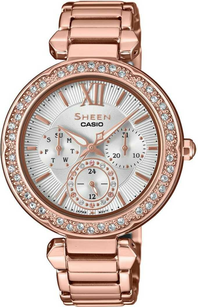 Casio SHE-3061PG-7AUDR Rose Gold Metal Watch For Women