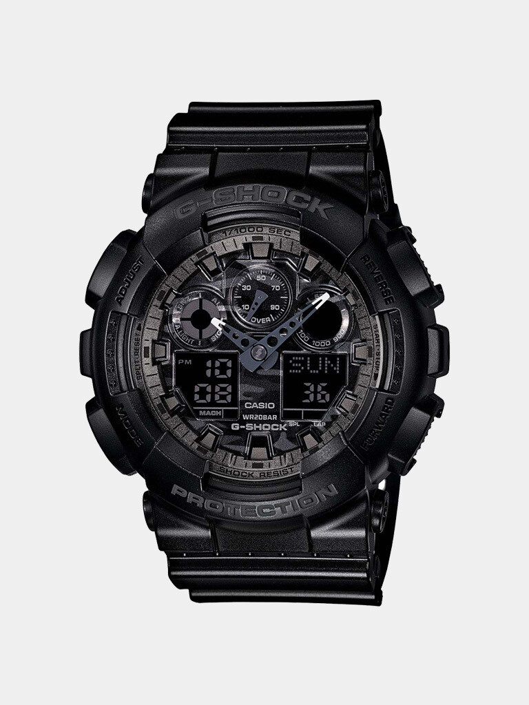Casio G-Shock GA-100CF-1ADR Analog-Digital Watch for Men -Black