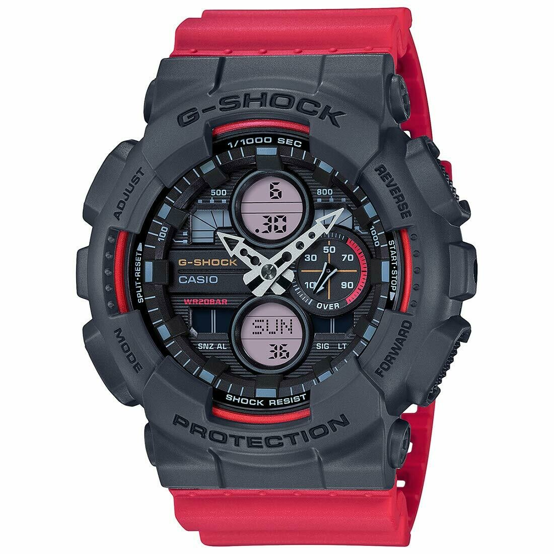 Casio G-Shock GA-140-4ADR Red Resin Watch For Men
