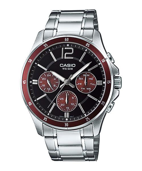 Casio Enticer MTP-1374D-5AVDF Analog Wrist Watch For Men - Silver