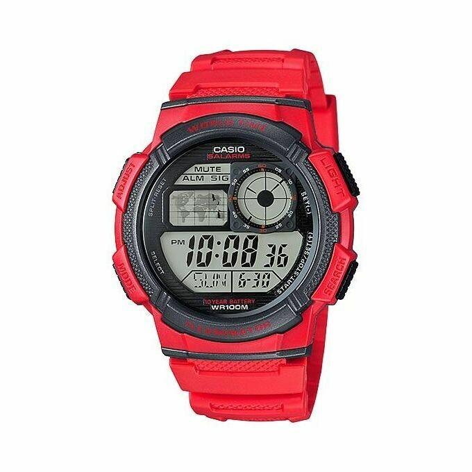 Casio Youth AE-1000W-4AVDF Digital Wrist Watch For Men - Red