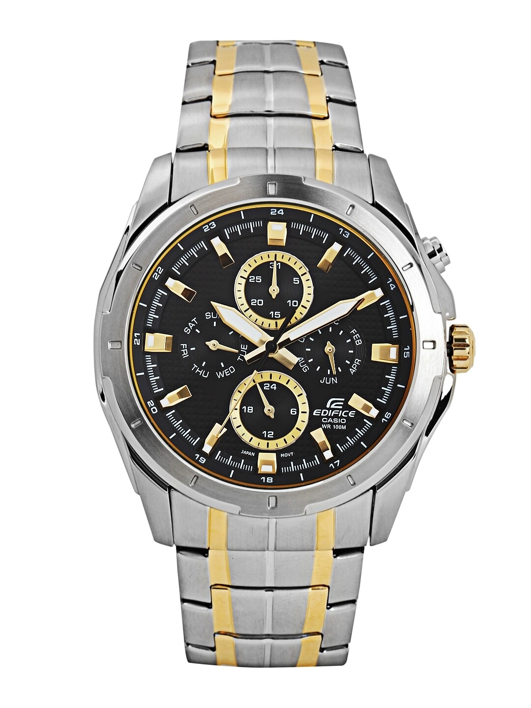Casio Edifice EF-328SG-1AVDF Analog Wrist Watch For Men - Silver and Gold