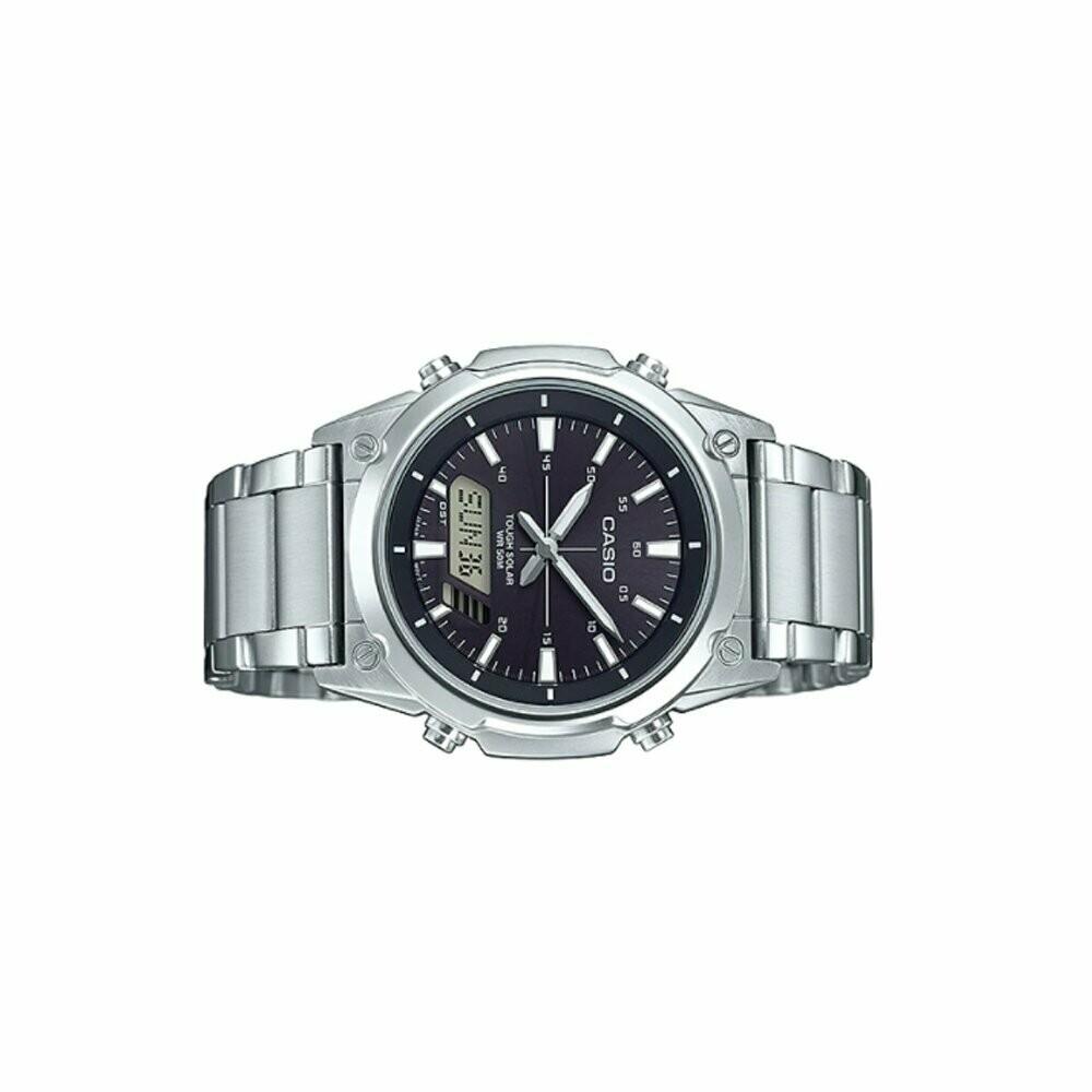 Casio Enticer AMW-S820D-1AVDF Analog-Digital Wrist Watch For Men - Silver