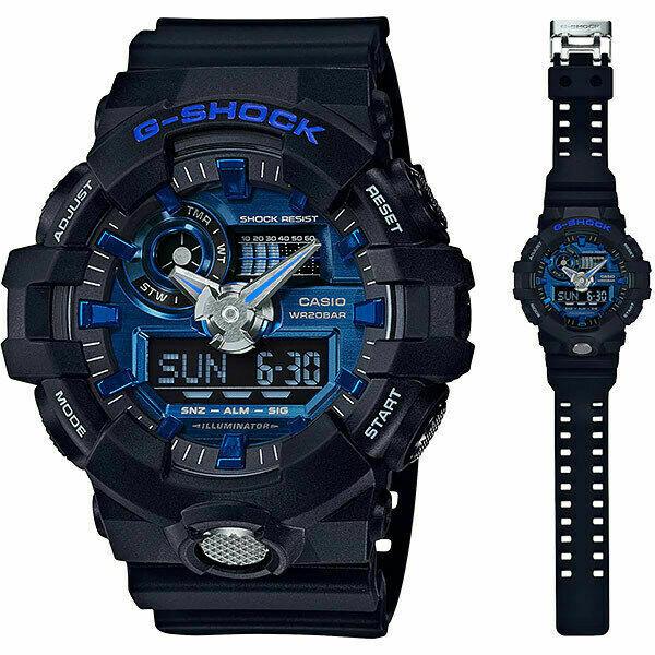 Casio G-Shock GA-710-1A2DR Analog-Digital Wrist Watch For Men - Black