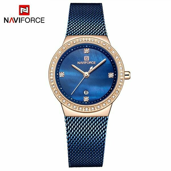 NAVIFORCE NF5005 Stainless Steel Watch for Women-Blue