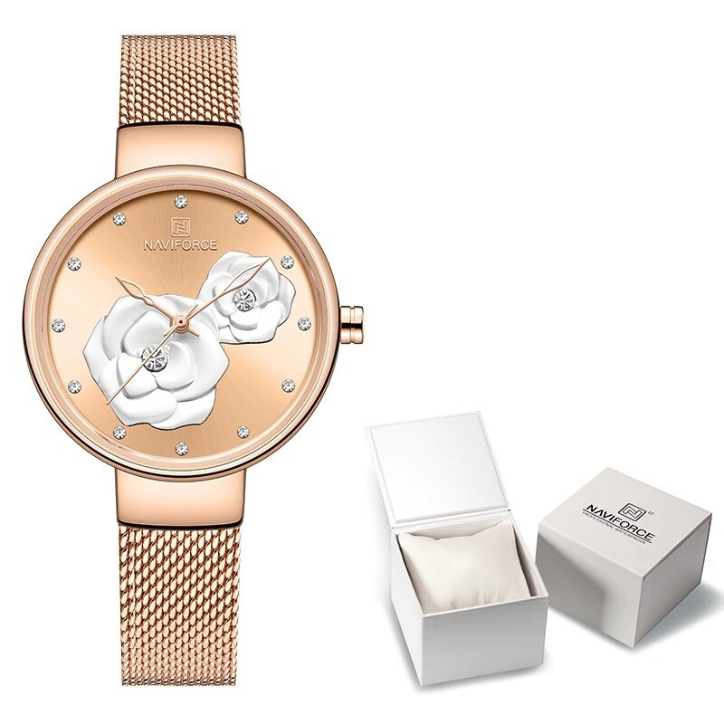 NAVIFORCE NF5013 Stainless Steel Analog Watch For Women
