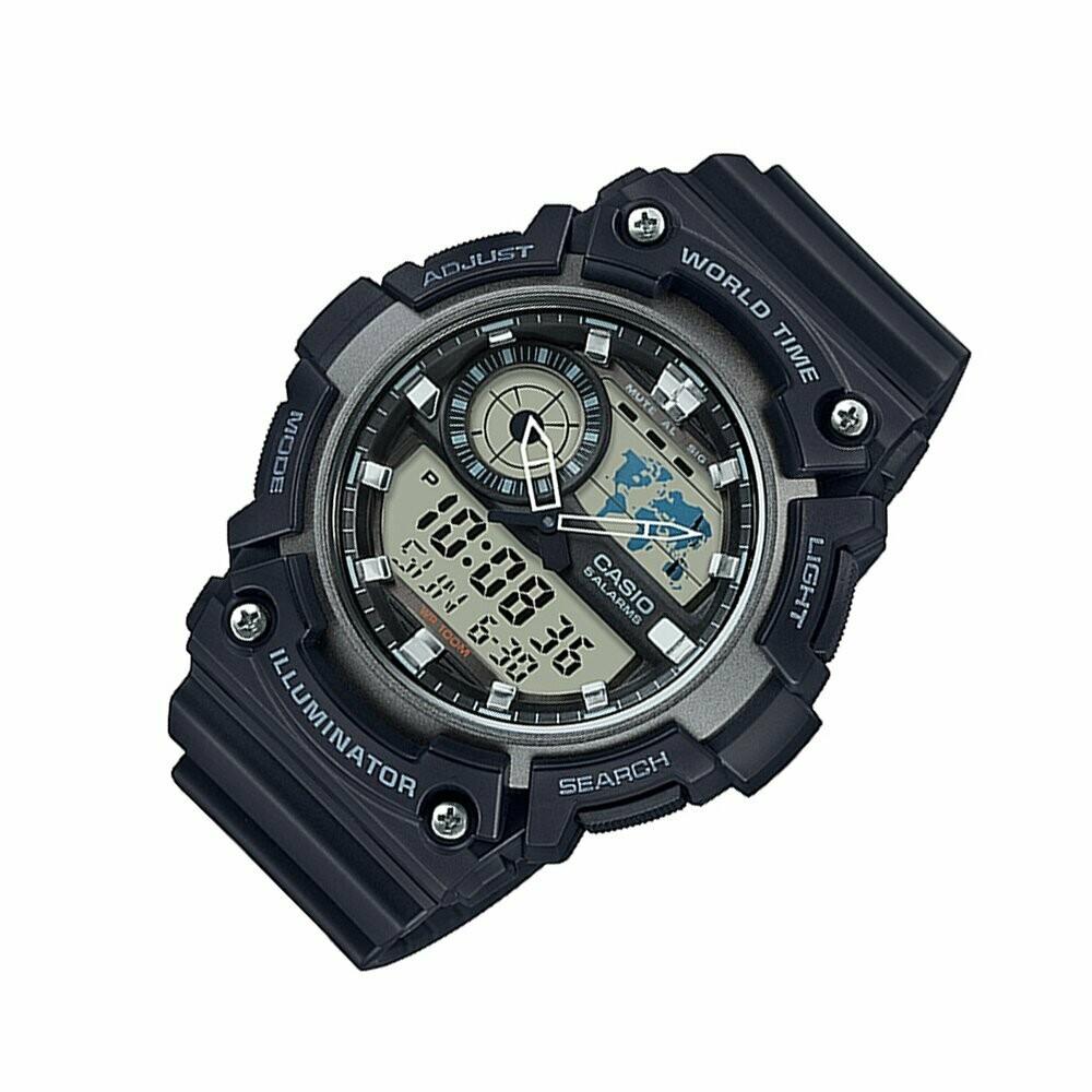 Casio Youth AEQ-200W-1AVDF Analog-Digital Wrist Watch For Men - Black