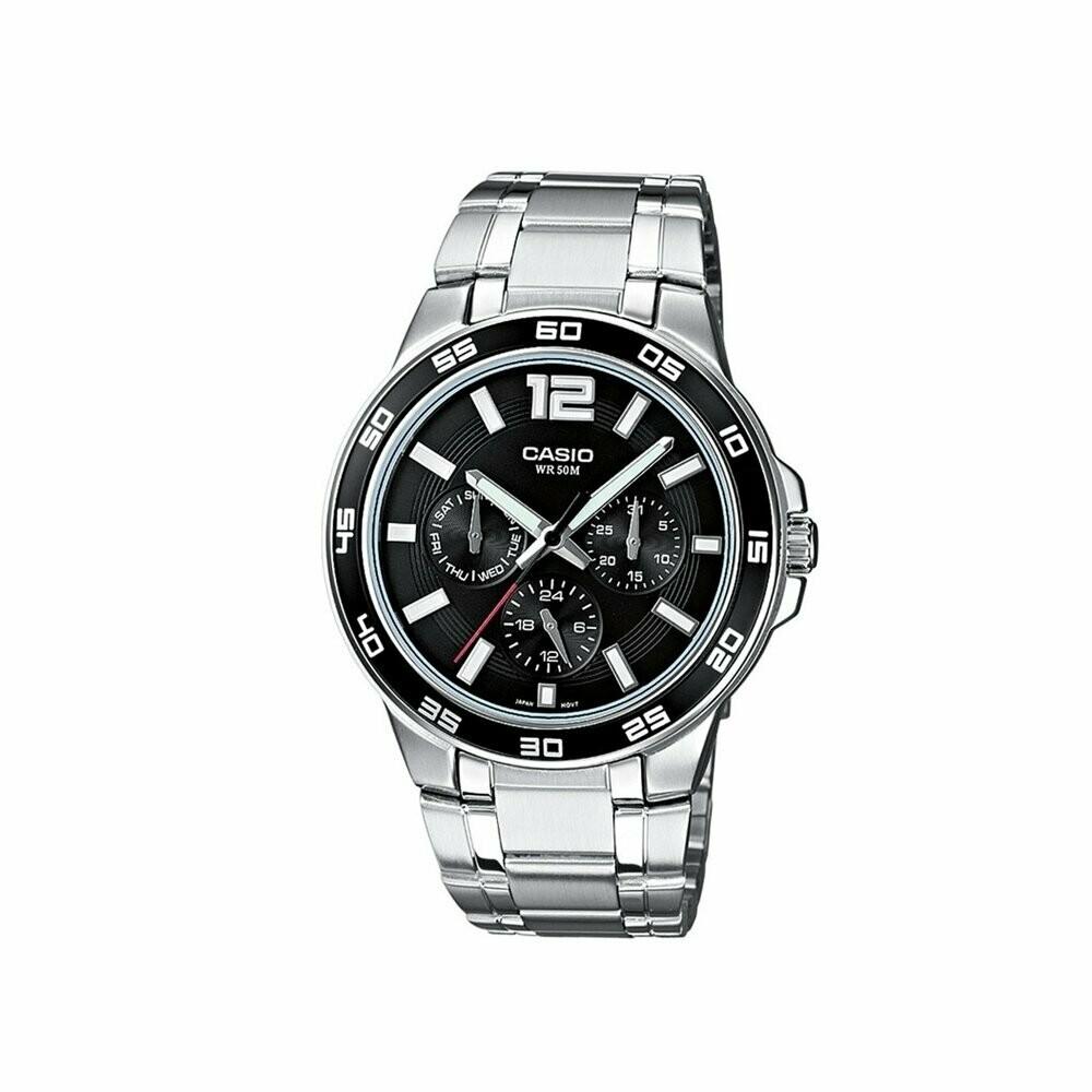 Casio Enticer MTP-1300D-1AVDF Analog Wrist Watch For Men - Silver
