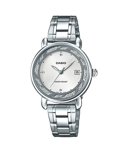 Casio Enticer Ladies LTP-E120D-7ADF Silver Stainless Steel Watch for Women