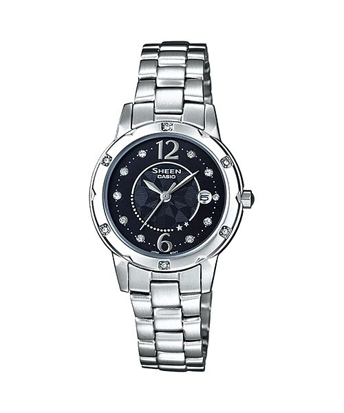 Casio Sheen SHE-4021D-1ADF Silver Stainless Steel Watch for Women