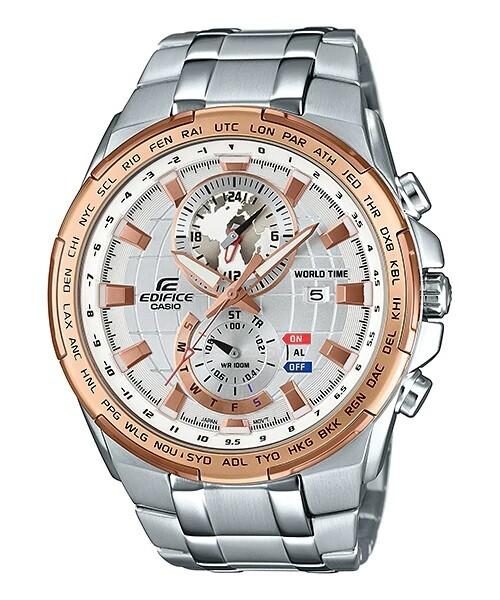 Casio Edifice EFR-550D-7AVUDF Analog Wrist Watch For Men - Silver