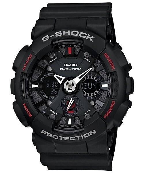 Casio G-Shock GA-120-1ADR Analog-Digital Watch for Men -Black
