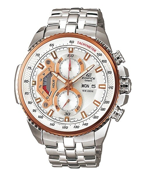 Casio Edifice EF-558D-7AVDF Analog Wrist Watch For Men - Silver