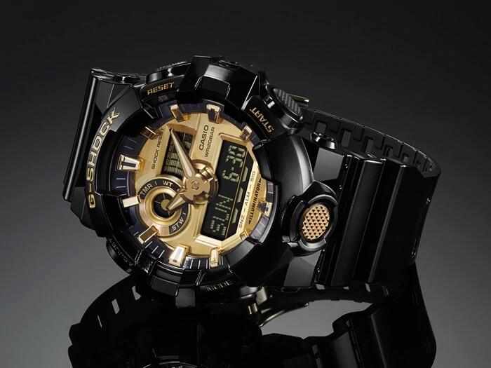 Casio G-Shock GA-710GB-1ADR Analog-Digital Wrist Watch For Men - Black
