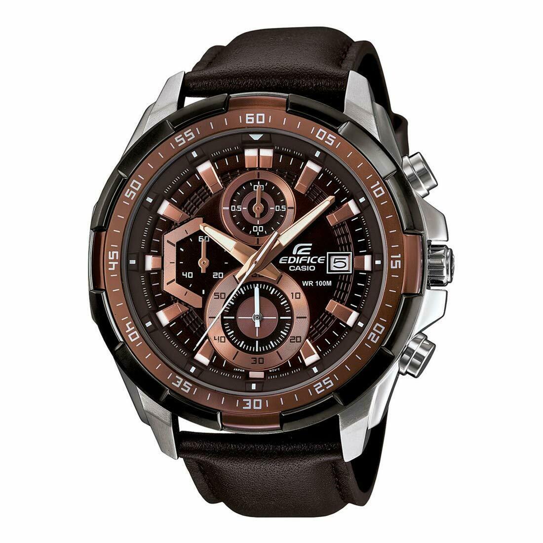 Casio EFR-539L-5AVUDF Brown Metal Watch For Men