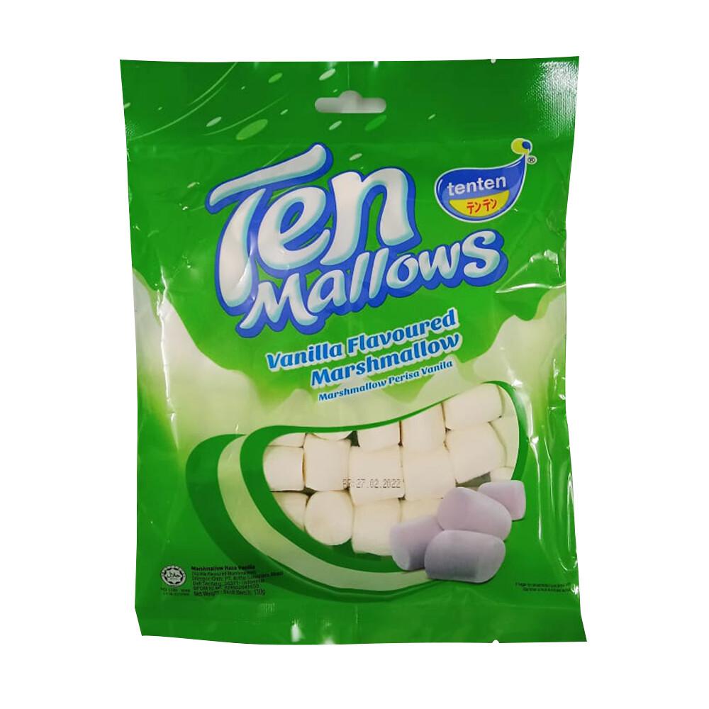 Ten Marshmallow Vanilla Flavoured
