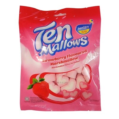 Ten Marshmallow Strawberry Flavoured