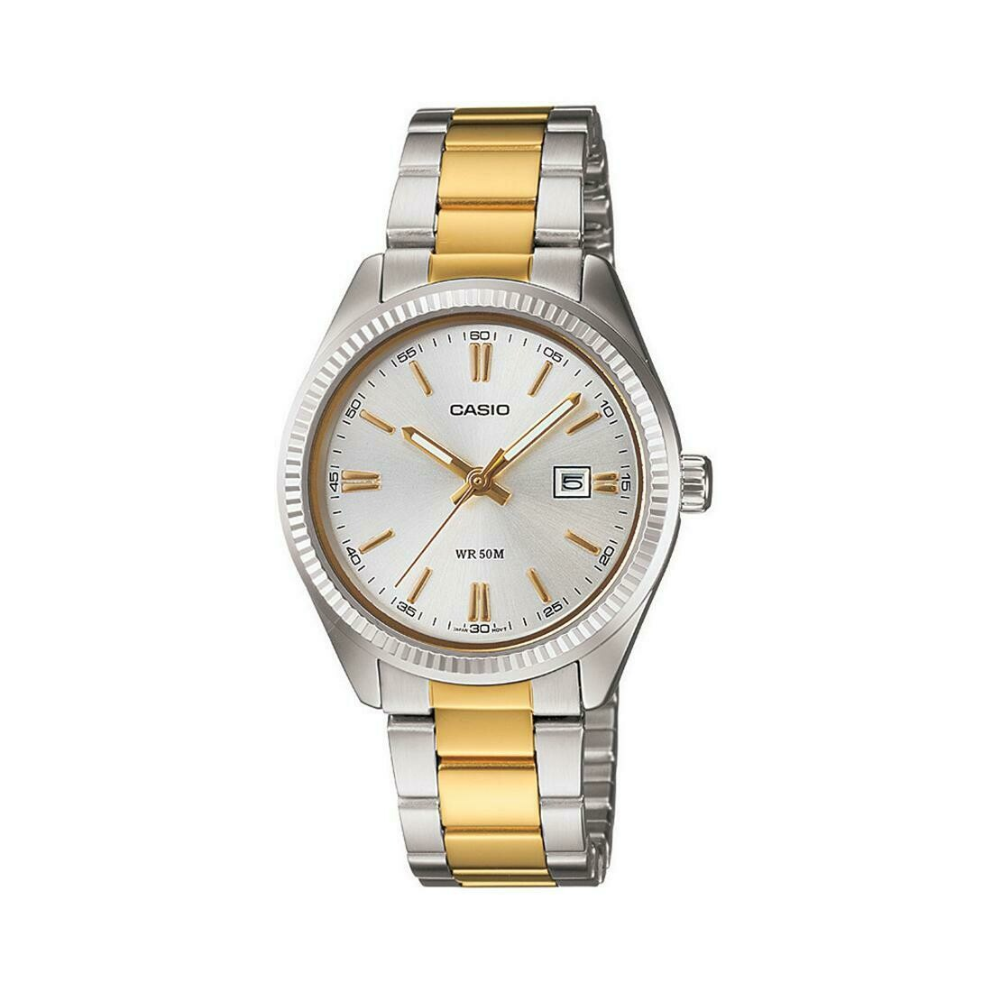 Casio Enticer LTP-1302SG-7AVDF Wrist Watch For Women - Silver and Gold
