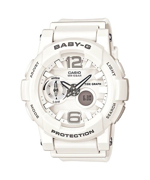 Casio Baby-G G-LIDE BGA-180-7B1DR White Resin Band Watch for Women