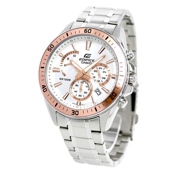 Casio Edifice EFR-552D-7AVUDF Analog Wrist Watch For Men - Silver