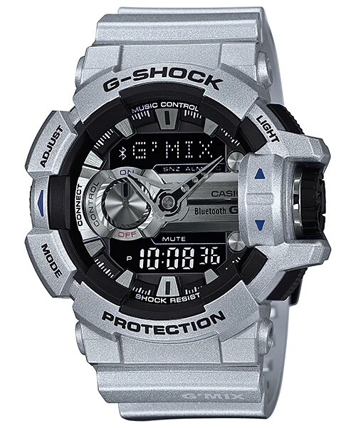Casio G-Shock GBA-400-8BDR Silver Resin Watch For Men