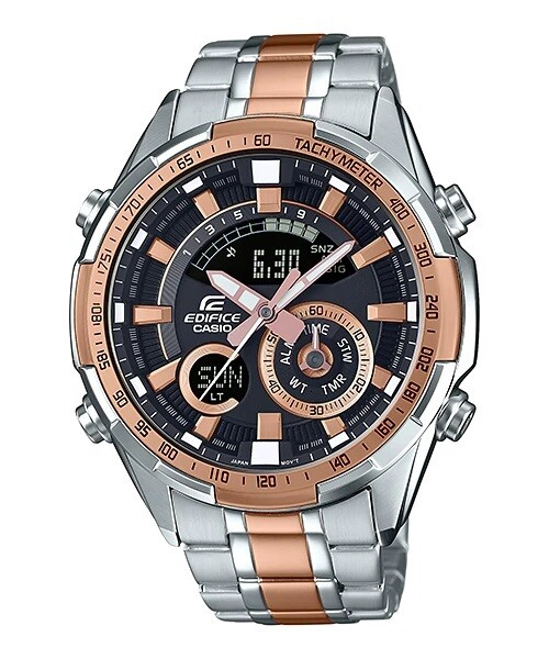 Casio Edifice ERA-600SG-1A9VUDF Analog-Digital Wrist Watch For Men - Silver