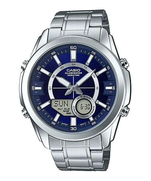 Casio Enticer AMW-810D-2AVDF Analog-Digital Wrist Watch For Men - Silver