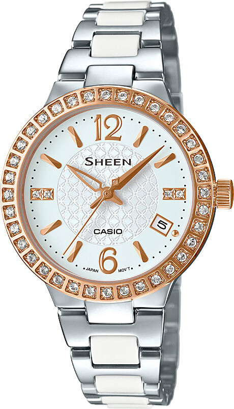 Casio Sheen SHE-4049SG-7AUDR Silver Stainless Steel Watch for Women