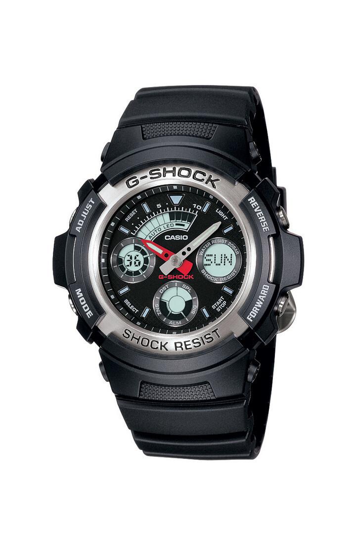 Casio G-Shock AW-590-1ADR Analog Digital Watch For Men - Black
