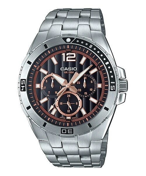 Casio Enticer MTD-1060D-1A3VDF Analog Wrist Watch For Men - Silver