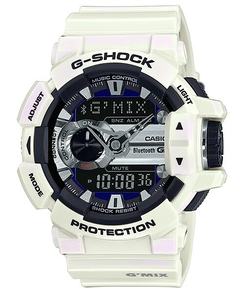 Casio G-Shock GBA-400-7CDR White Resin Watch For Men