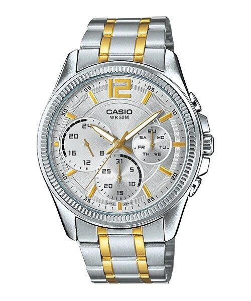 Casio Enticer MTP-E305SG-9AVDF Analog Wrist Watch For Men - Silver and No Ratings
